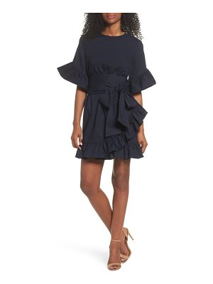CLOVER AND SLOANE tie waist ruffle dress