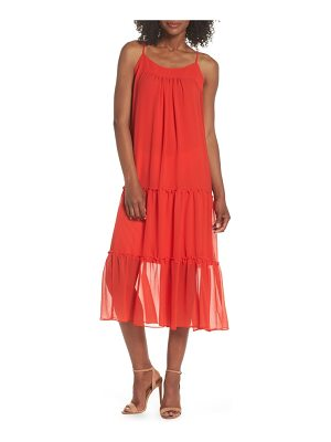 CLOVER AND SLOANE tiered midi dress