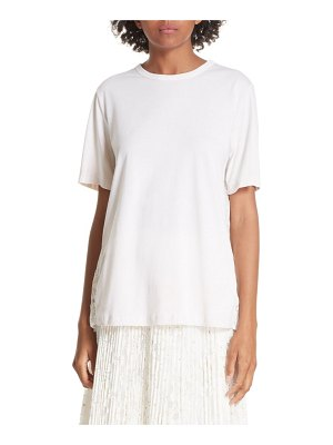 Clu pleated floral lace tee
