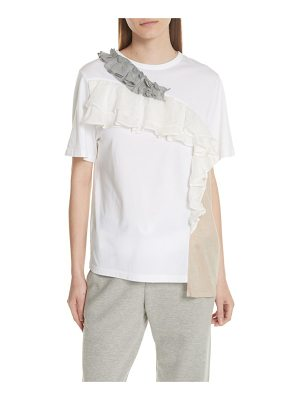 Clu ruffled colorblock top