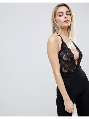 Club L allover lace sheer body