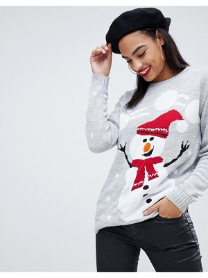 Club L christmas sweater with snowman intarsia design