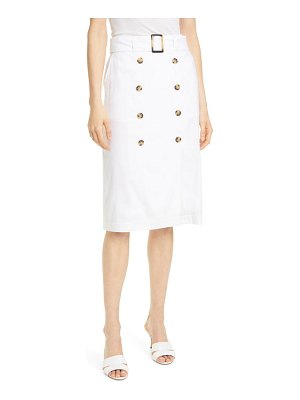 Club Monaco belted linen blend pencil skirt
