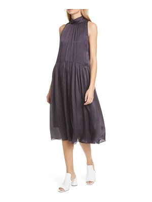 Club Monaco dot pattern tie back sleeveless silk chiffon dress