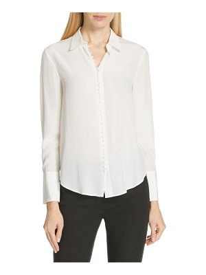 Club Monaco helek covered button silk shirt