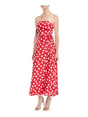 Club Monaco McGolrick Strapless Polka Dot Maxi Dress