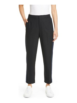 Club Monaco ryanne tuxedo stripe crop pants