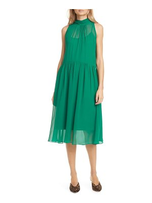 Club Monaco tie back sleeveless silk chiffon dress