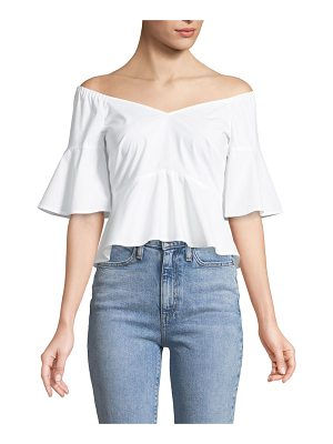 Club Monaco Ulmera Cropped Off-the-Shoulder Top