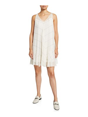Club Monaco Windowpane Sleeveless Dress
