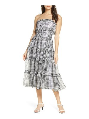 C/Meo Collective c/meo stealing chiffon tiered ruffle gingham sundress