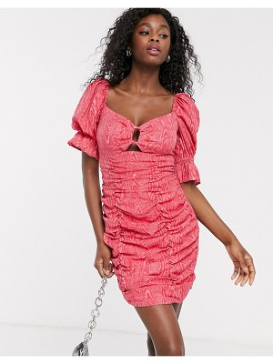 C/Meo Collective early on puff sleeve mini dress in pink
