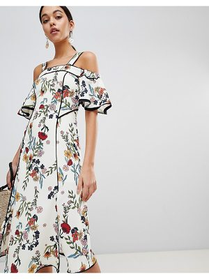 C/Meo Collective floral printed midi dress
