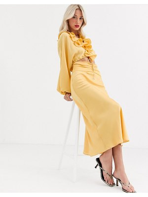 C/Meo Collective knowing of this two-piece skirt-yellow
