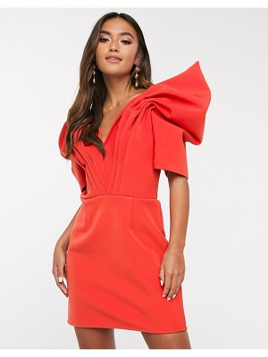 C/Meo Collective on the level mini dress with statement sleeve-red