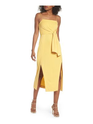 C/Meo Collective recollect slinky side tie midi dress