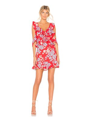 C/MEO Questions Mini Dress In Red Floral