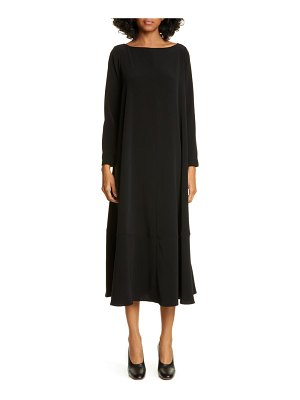 Co. bateau neck long sleeve midi dress