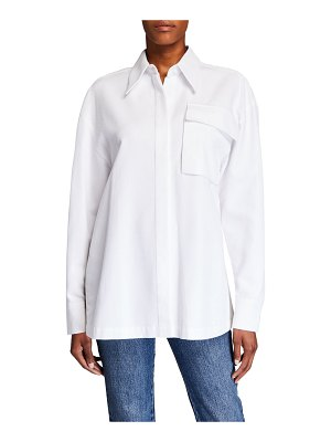 Co. Belted Button-Front Shirt