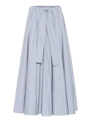 Co. belted cotton midi skirt