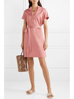 Co. belted cotton-sateen dress
