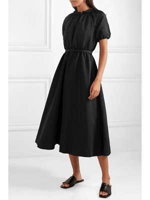 Co. belted faille midi dress