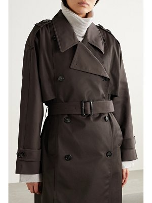 Co. belted gabardine trench coat