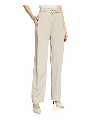 Co. Belted High-Rise Trousers