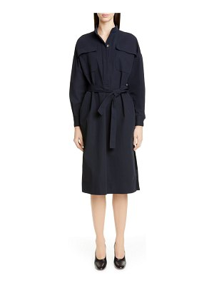 Co. belted midi shirtdress