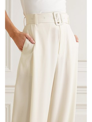 Co. belted satin-jersey wide-leg pants
