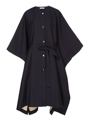 Co. belted tton poncho