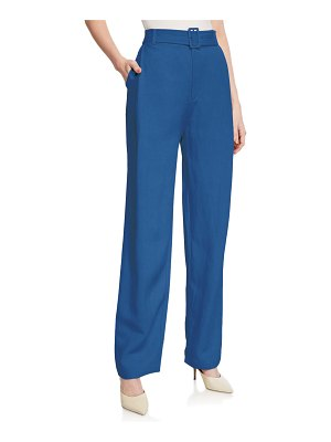 Co. Belted Wide-Leg Pants