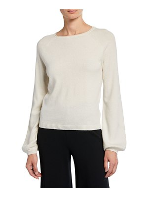 Co. Boat-Neck Long-Sleeve Cashmere Poet Sweater