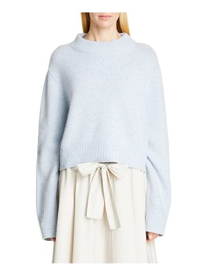 Co. boxy cashmere crop sweater