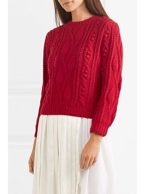 Co. cable-knit wool and cashmere-blend sweater