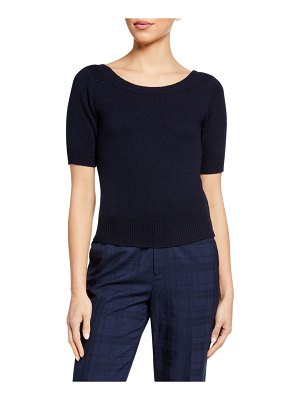 Co. Cashmere 1/2-Sleeve Sweater