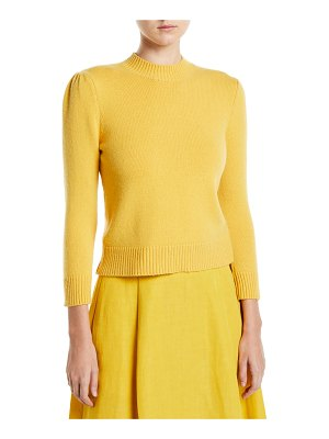 Co. Cashmere Puff-Shoulder Pullover Sweater