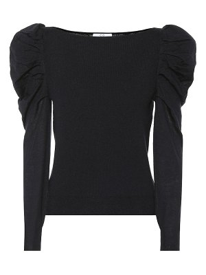 Co. cashmere puff-shoulder sweater