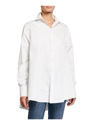 Co. Cotton A-Line Button-Front Shirt