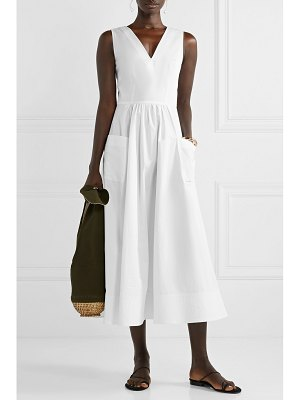 Co. cotton-poplin midi dress