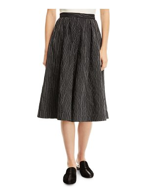 Co. Crinkled-Cotton Striped Culottes