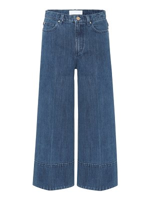 Co. Cropped wide-leg jeans