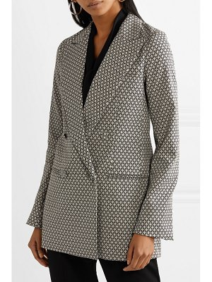 Co. double-breasted cotton-blend jacquard blazer
