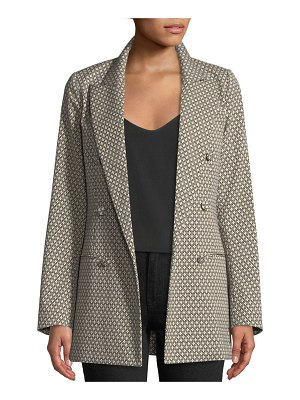Co. Double-Breasted Diamond-Jacquard Blazer