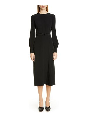 Co. essentials pleated panel midi dress