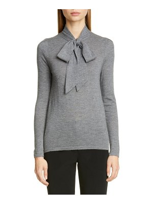 Co. essentials tie neck cashmere sweater