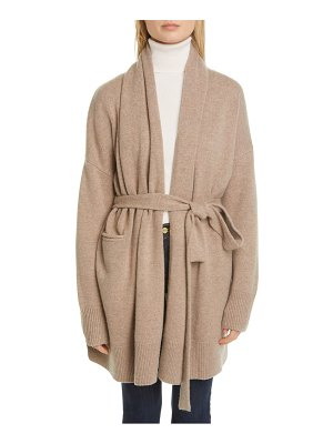 Co. essentials wool & cashmere long belted cardigan