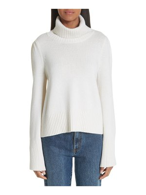 Co. essentials flare sleeve wool & cashmere turtleneck sweater