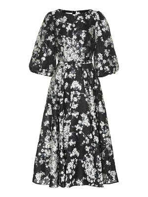 Co. Floral jacquard dress