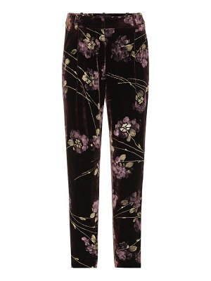 Co. Floral-printed velvet trousers